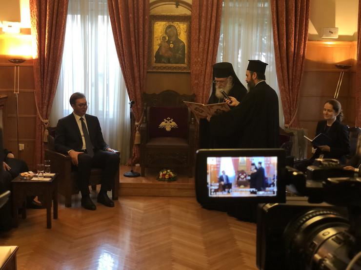 Aleksandar Vučić i arhiepiskop Jeronim Drugi