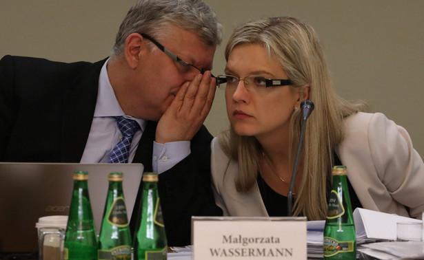 Małgorzata Wassermann pouczała Michała Tuska w trakcie przesłuchania
