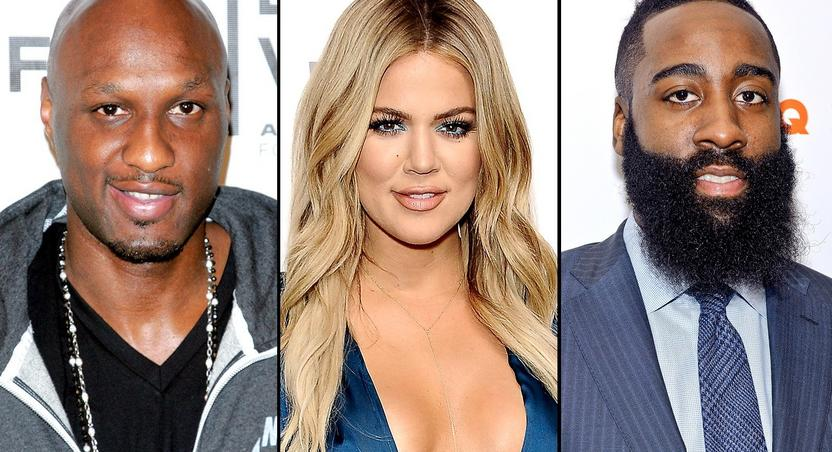 Lamar Odom, Khloe Kardashian and James Harden