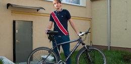 Dojechał rowerem do Chin