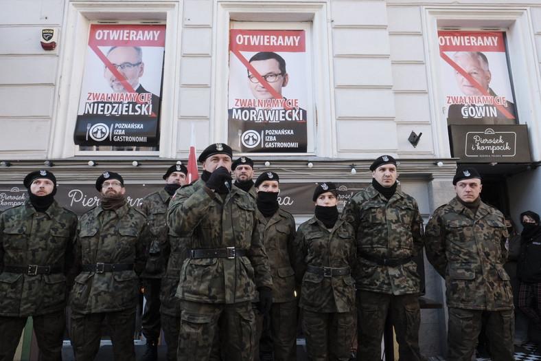 Pancerni Poznań durante la manifestación
