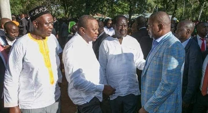 Uhuru lectures fired CS Rashid Echesa in front of Raila Odinga