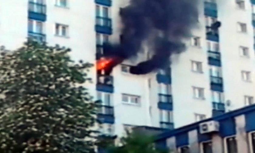 Pożar w Dąbrowie Górniczej