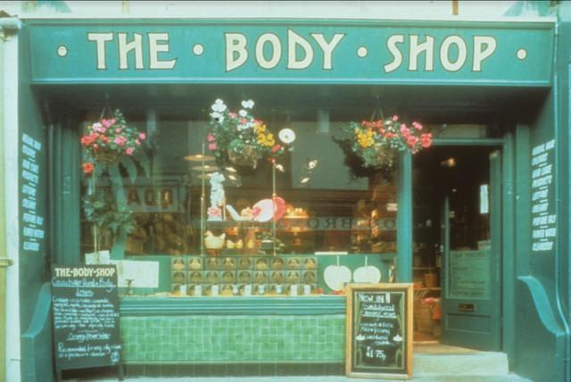 The Body Shop prva prodavnica u Brajtonu, Engleska, 1976.