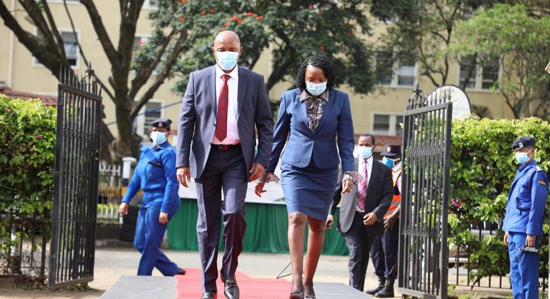 Justice Nduma Nderi arriving at the Supreme Court to be interviewed for the position of the Chief Justice.