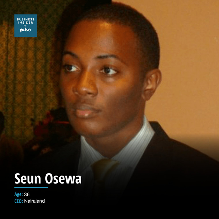 Seun Osewa is Nigerian internet entrepreneur and founder of the popular conversation-like platform, Nairaland.