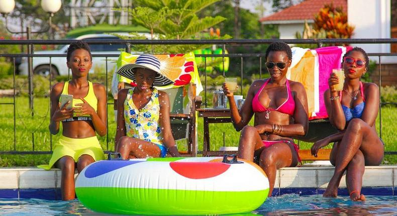 Akothee with her three girls