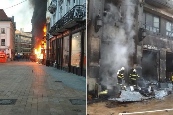 71cb54e95 Na vianočných trhoch v Bratislave vypukol požiar, zhorela aj vedľajšia  budova