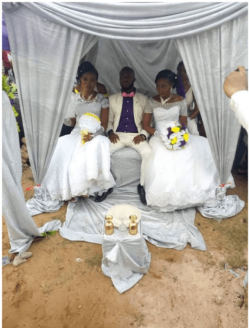 Man ties the knot with two different woman