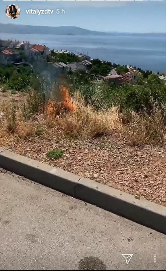 Vitalij zapalio travu