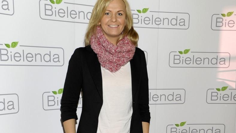 Pływaczka pojawiła się wczoraj na konferencji prasowej marki Bielenda