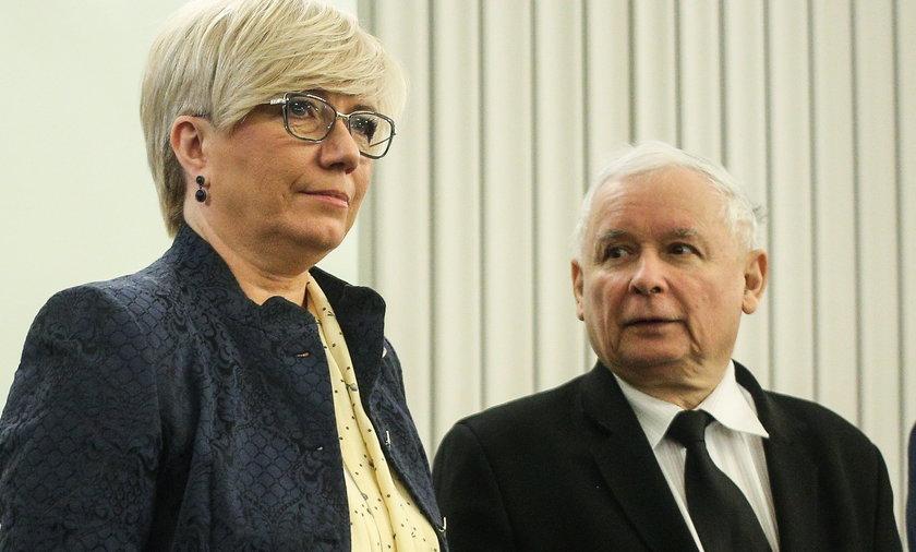 Jarosław Kaczyński i Julia Przyłębska, prezes Trybunału Konstytucyjnego.