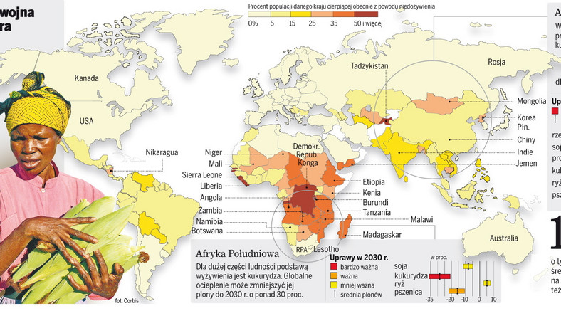 Zmiany klimatu grożą głodem