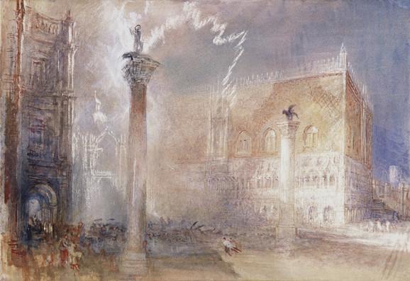Mali trg u Veneciji, 1840.