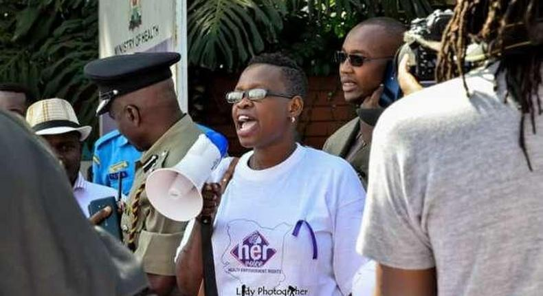 File image of Mildred Owiso who streatmed her dramatic arrest