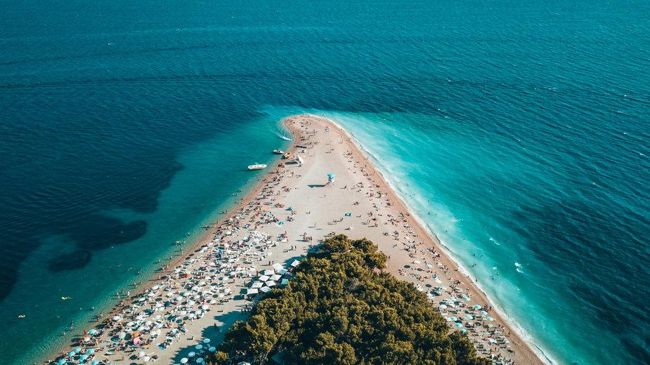 Plaża Złoty Róg, Chorwacja
