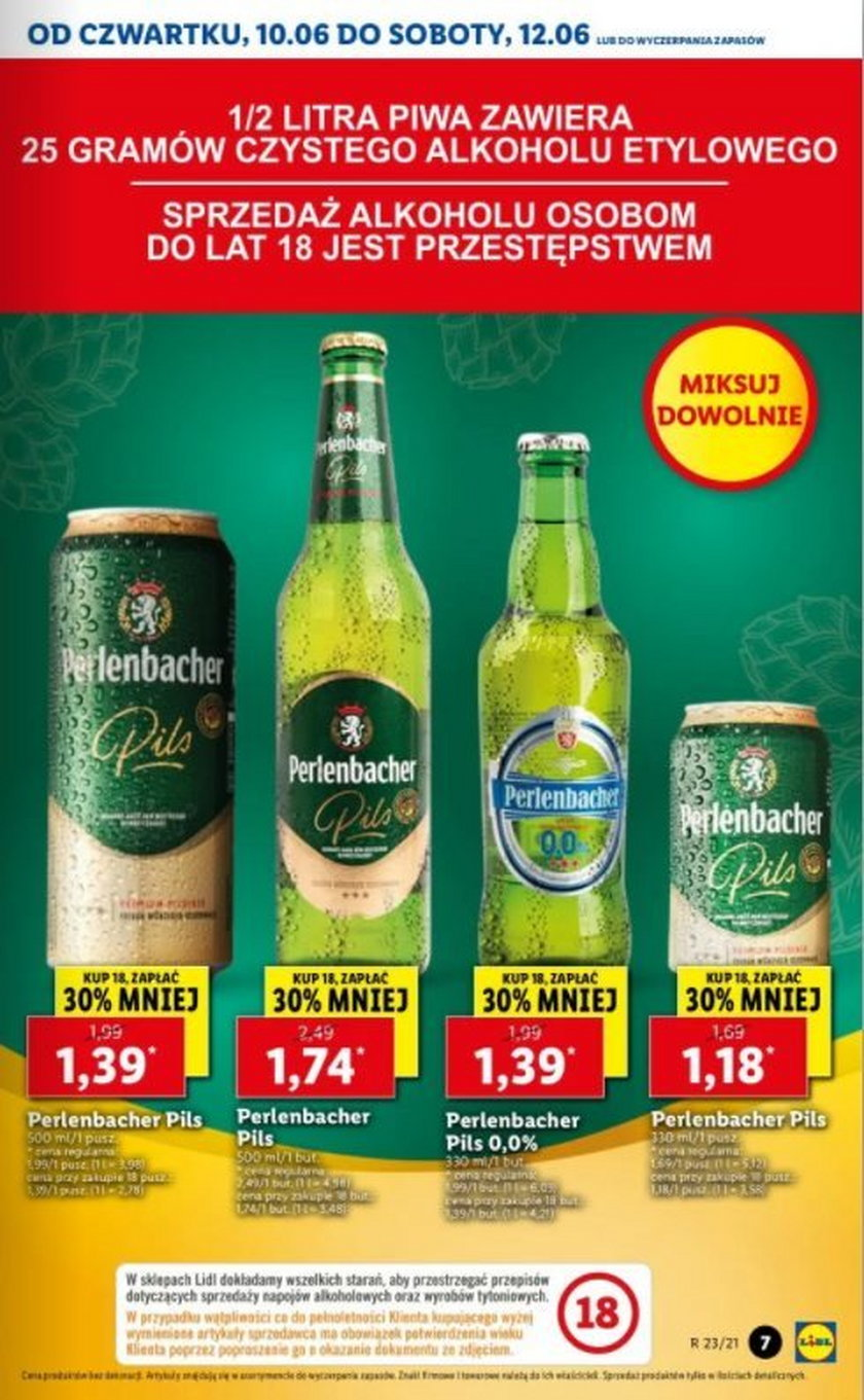Lidl - Perlenbacher Pils w formule kup 12, zyskaj dodatkowo 6 piw