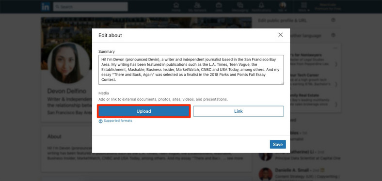 How To Upload Your Resume On Linkedin And Display It On Your