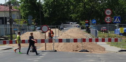 Ulica Pawia w Lublinie zamknięta