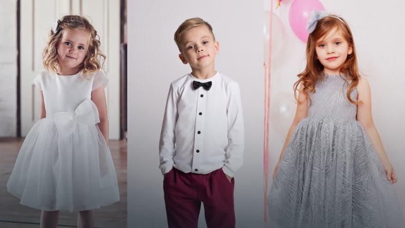 8ec466fb3f Sukienki dla dziewczynek na wesele - strój na wesele dla chłopca ...