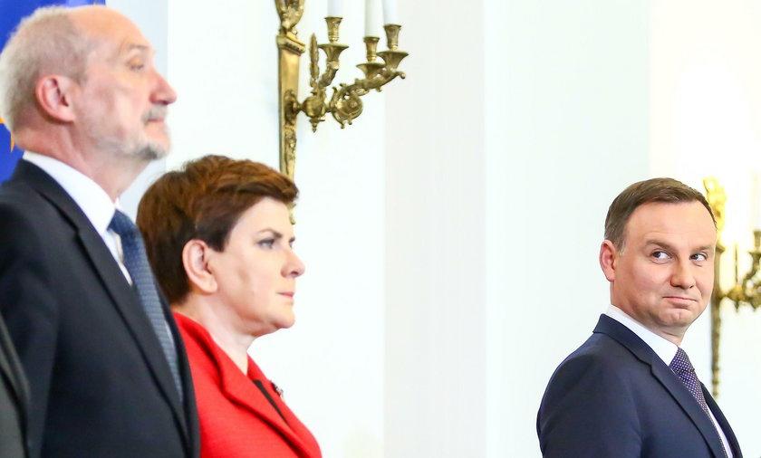 Andrzej Duda, Beata Szydło i Antoni Macierewicz