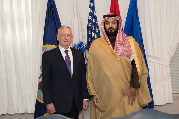 Američki sekretar odbrane Džejms Matis i Muhamed bin Salman