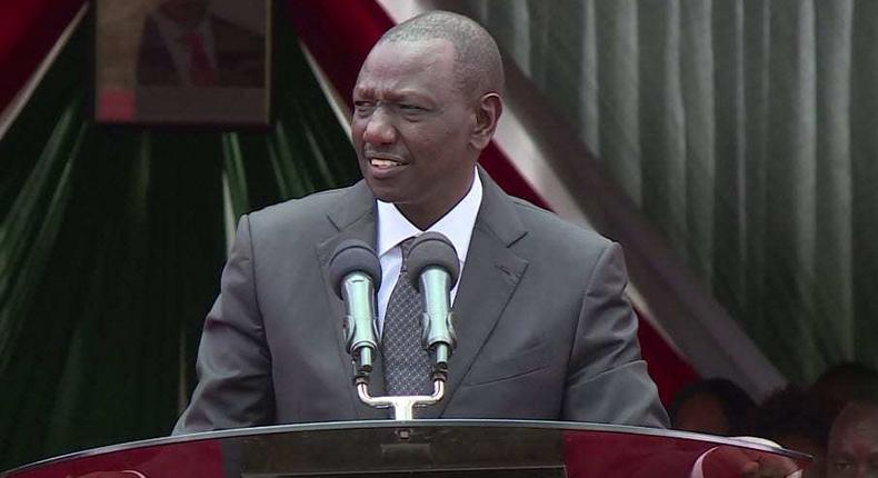 File image of Deputy President William Ruto speaking at a function in Embu A vehicle in his convoy knocked down a seven-year old boy in Busia on Friday, 07 June 2019