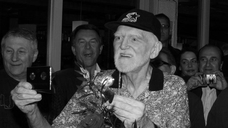 Franciszek Walicki podczas obchodów 50-lecia polskiego rocka w 2009 r.