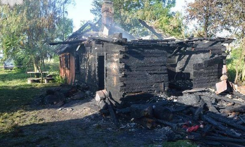 Spalony dom w Łubnie