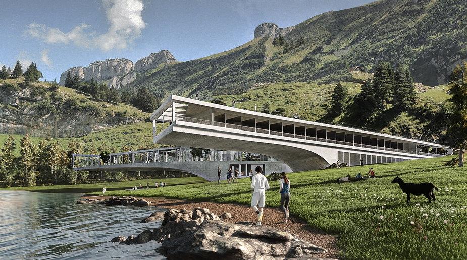 Projekt przygotowali Jakub Wichtowski i Jan Zieliński, studenci drugiego roku Architektury Uniwersytetu Artystycznego w Poznaniu.