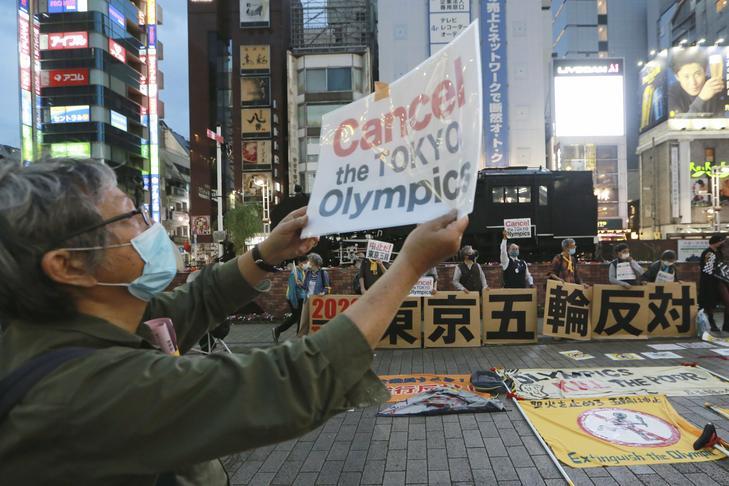 Tokióban már több alkalommal tiltakoztak az olimpia megrendezése ellen /Fotó: MTI