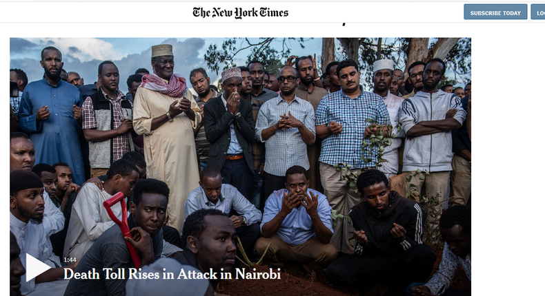 Why I stand with the New York Times in publishing photos of Dusit terror victims [Tony Mukere]