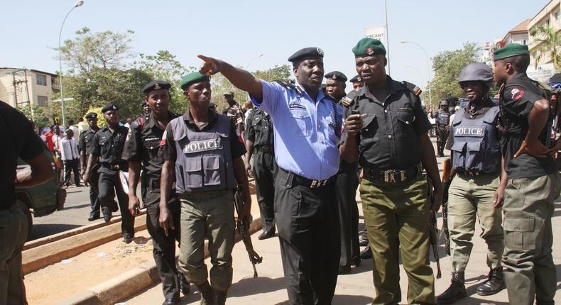 Nigerian Police officers.