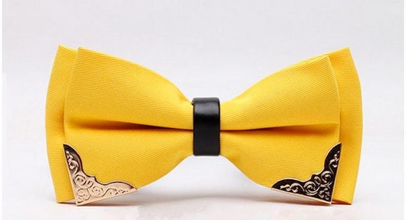HeySir Lemon Yellow Silk Bow Tie