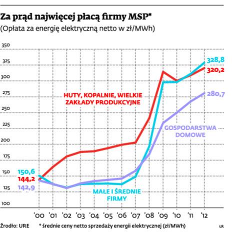 Za prąd najwięcej płacą firmy MSP