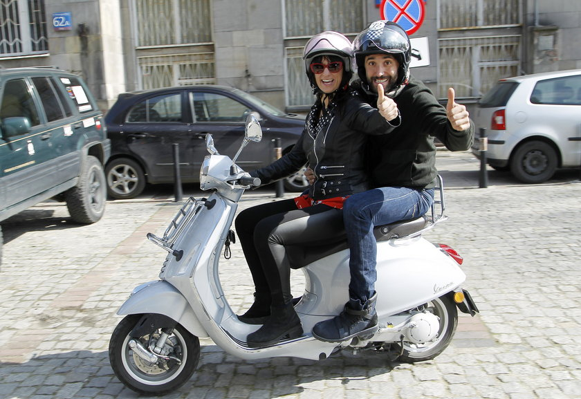 Rafał Maserak i Monika Mariotti