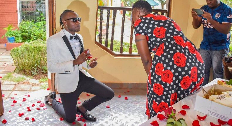 Tears of Joy- Guardian Angel Proposes to his lover Esther Musila (Video)