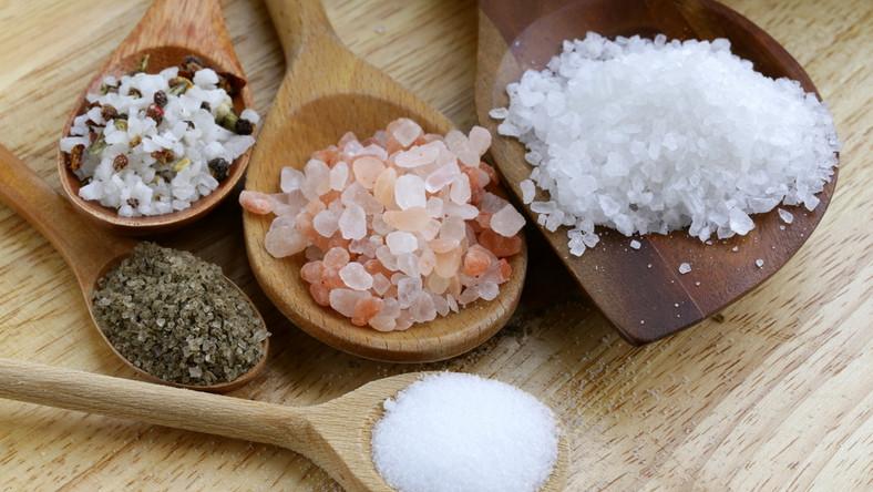 Różne rodzaje soli
