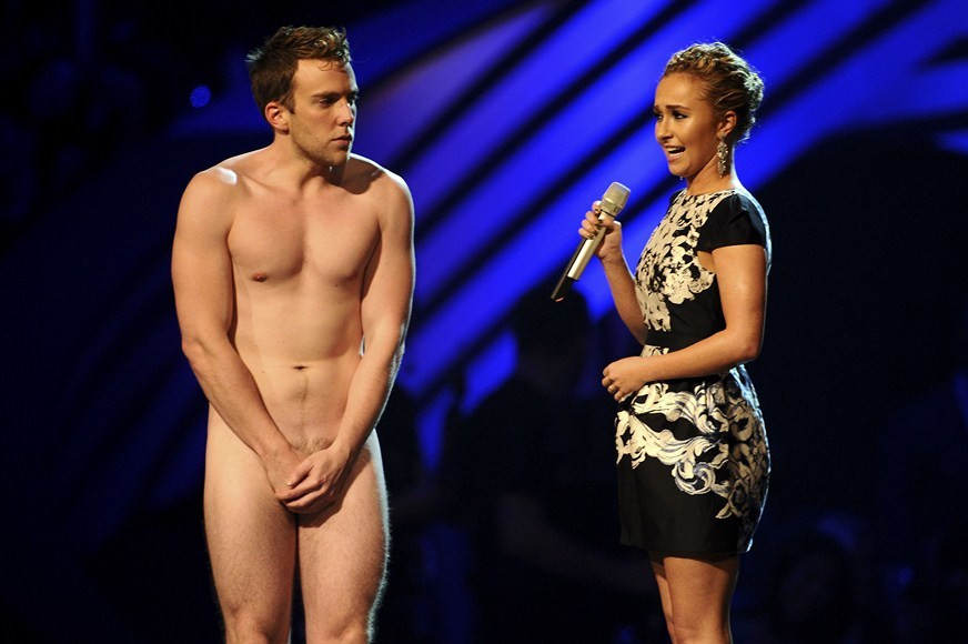 Hayden Panettiere i nagi intruz na scenie (fot. Getty Images)