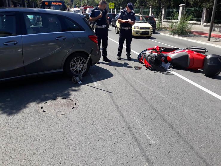 motociklista oboren nesreća nezgoda udes