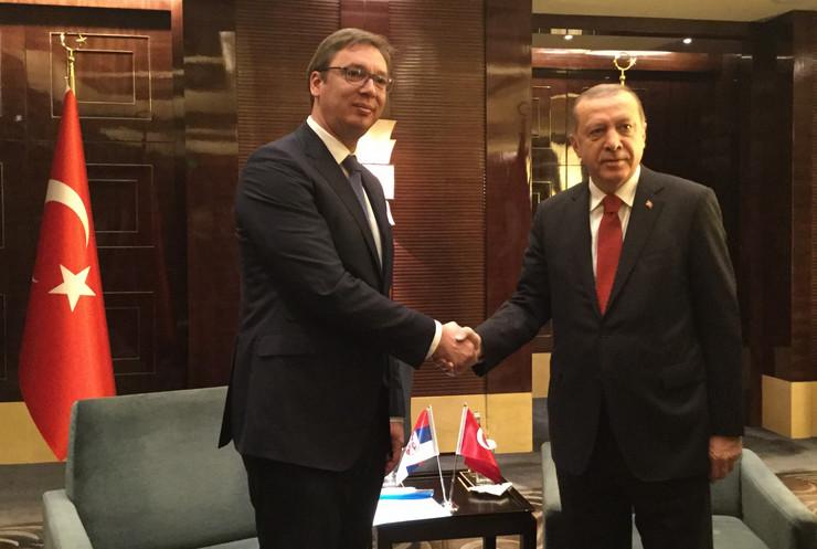 Aleksandar Vučić, Redžep Tajip Erdogan, Peking