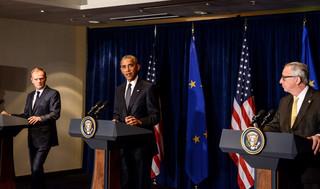 Obama po rozmowach z Tuskiem i Junckerem: USA będą wspierać Ukrainę i utrzymywać sankcje wobec Rosji
