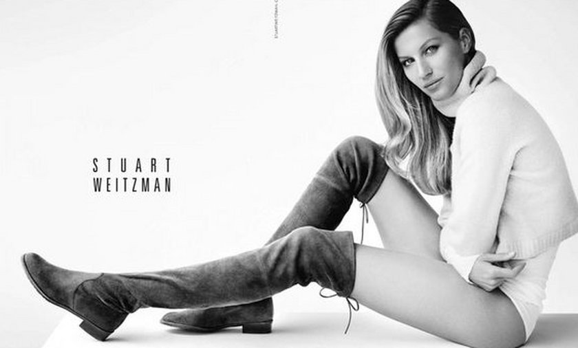 Gisele Bundchen reklamuje buty Stuarta Weitzmana