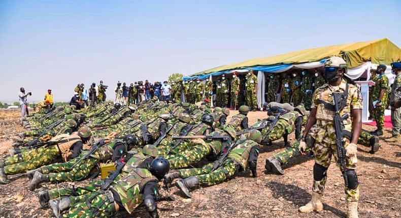 Nigerian military troops [NAF]