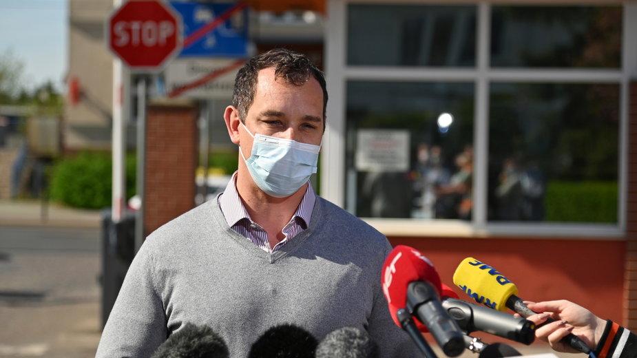 Prof. Miłosz Parczewski, lekarz naczelny ds. COVID-19 w szpitalu wojewódzkim w Szczecinie