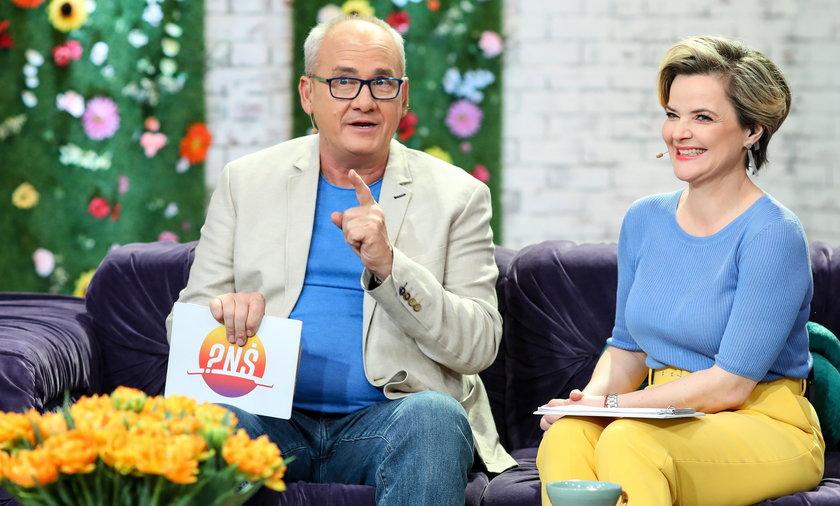 Michał Olszański i Monika Zamachowska w Pytanie na śniadanie