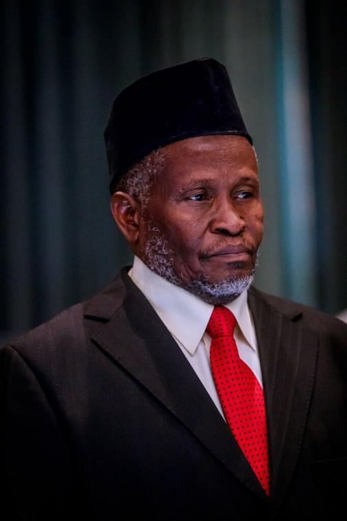 President Buhari suspends Onnoghen, swears in Tanko Mohammed as acting CJN (Twitter| @NGRPresident)