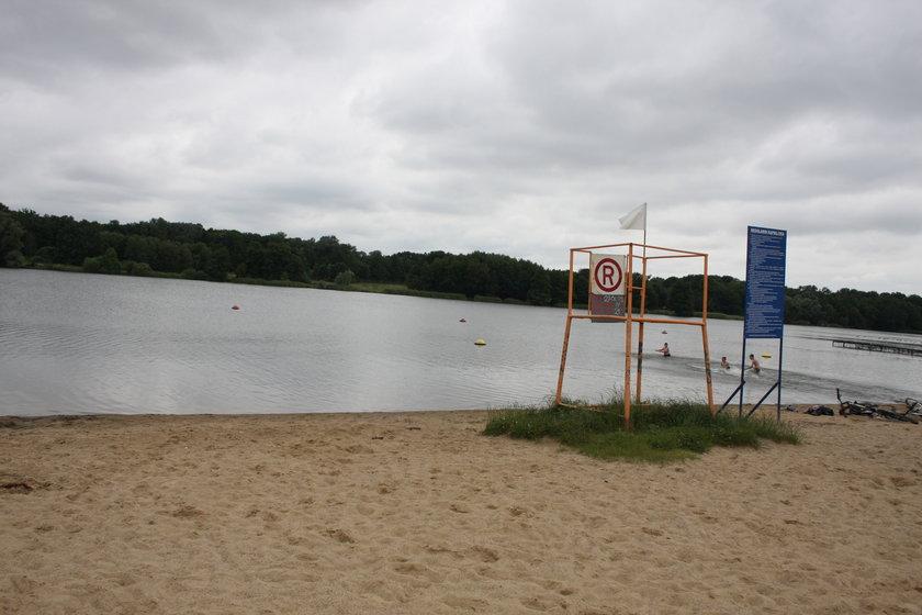 Zakaz kąpieli nad Rusałką