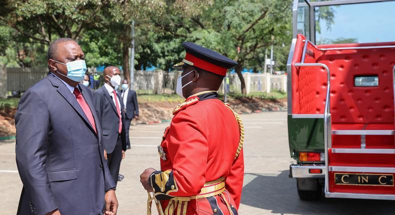 President Uhuru Kenyatta during the 2020 Jamhuri Day celebrations