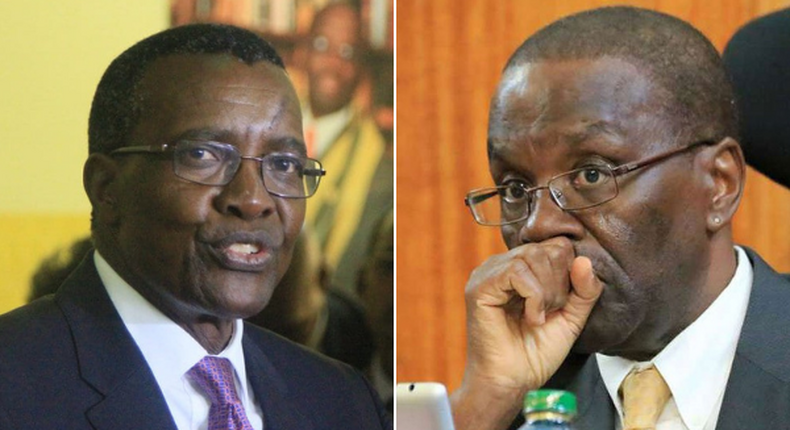 Former Chief Justices David Maraga and Dr Willy Mutunga